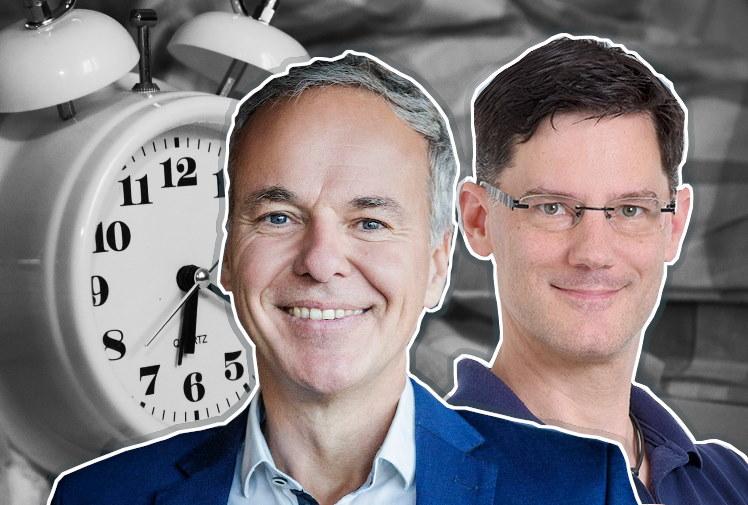 Schlafexperten Stefan Geisse und Oliver Tanneberger