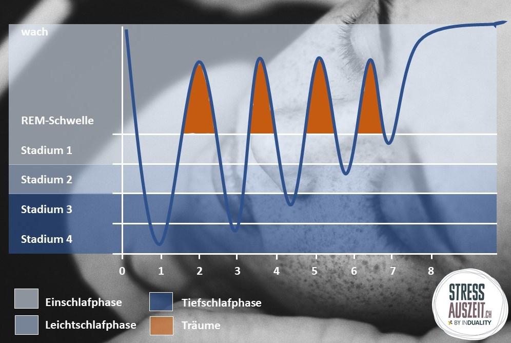 Schlaf ist nicht gleich schlaf: Wir durchlaufen pro Nacht verschiedene Schlafphasen und Stadien